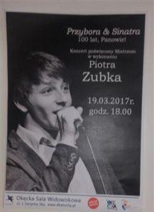 Zaproszenie na koncert Piotra Zubka