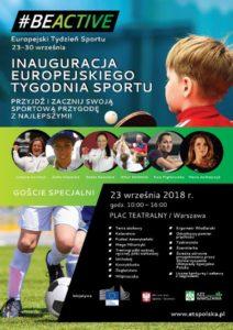 Piknik Sportowy z okazji Inauguracji Europejskiego Tygodnia Sportu 23 września 2018