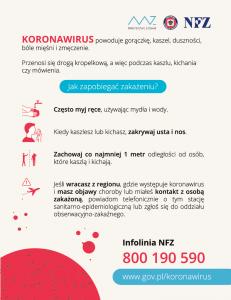 MZ – kampania edukacyjna dedykowana koronawirusowi